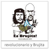 <革命家と魔法使い> アルゼンチンのブルヒータ(小さな魔法使い)。 ほうきにまたがってピッチを俯瞰するスーパーパサー。 彼の肩にタトゥーとして刻まれてるあの革命家も一緒に!