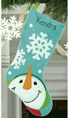 Catching Snowflakes Stocking Felt Applique Kit by Dimensions