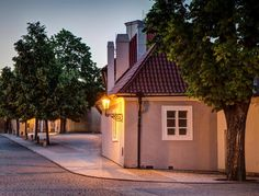 Summer evening at Hradčany, Prague, Czechia Prague Castle, Beautiful Places In The World, Summer Evening, Czech Republic, Interior And Exterior, Cabin, Mansions, House Styles, City