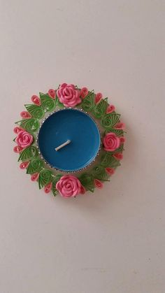 Quilled candle holder, Quilled gift, Tealight holder, Home decor, Valentine's Day decor, Ornament, Candle centerpiece, Quilling