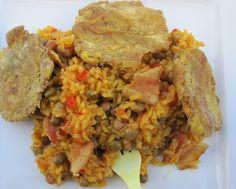 Arroz con Gandules (Rice with Pigeon Peas)-Puerto Rico