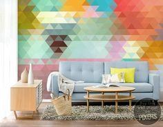 Geometric wall mural by PIXERS <3 www.pixersize.com