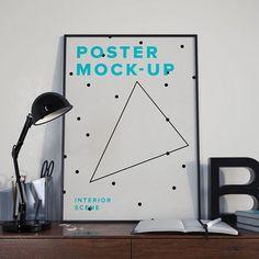Free Poster MockUp PSD – Interior Scene