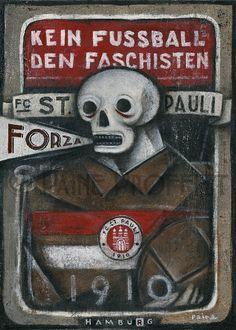 St. Pauli - FC St. Pauli Original Art by Paine Proffitt – BWSportsArt