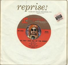 THE KINKS All Of The Day All Of The Night GARAGE PUNK GROUP ROCK 45 RPM RECORD #BritishInvasion