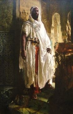 The Moorish Chief, Eduard Charlemont, 1878.....one of my favorite paintings. It's home is in the Philadelphia Museum of Art.
