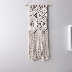 Challenge yourself and learn a new craft with this Macrame Wall Hanging Kit!  This kit includes all the supplies youll need to complete a one of a