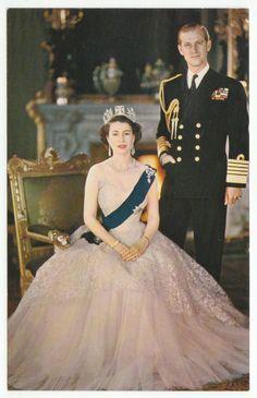 Postcards - England # 415 - Queen Elizabeth II & Prince Phillip