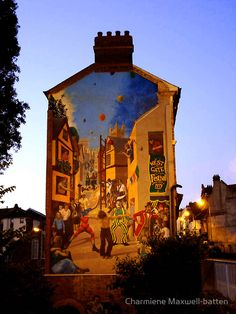 This is a wall mural in Exeter, Devon (England). #street art