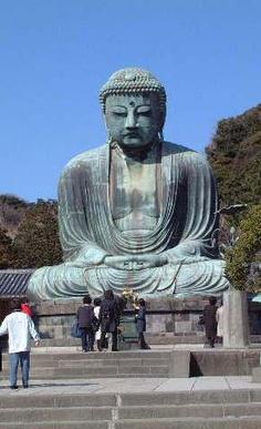 The Kamakura Daibutu, a grand Buddha located in Kamajura, #Japan