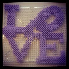 LOVE hama perler beads by pysselebba
