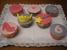 Cupcakes variadas para el cumpleaños de una princesa!!
