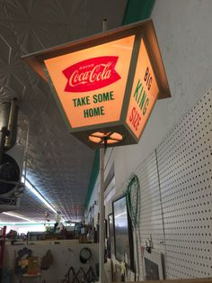VINTAGE 1960'S COCA COLA FISHTAIL ROTATING LAMP ADVERTISING SIGN! #COCACOLA
