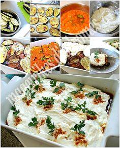 Μελιτζάνες με μυρωδάτη σάλτσα γιουρτιού Dessert Recipes, Desserts, Mashed Potatoes, Salsa, Easy Meals, Cooking Recipes, Meat, Chicken, Vegetables