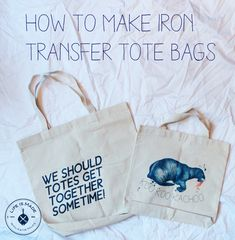 How to make an iron transfer canvas tote bag