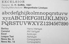 excelsior font linotype - Szukaj w Google