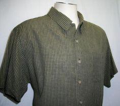 Men's ADVENTURE JOHN ASHFORD  XL Shirt Big Tall Check/Plaid 100% Cotton FS EUC  #eckounltd #ButtonFront