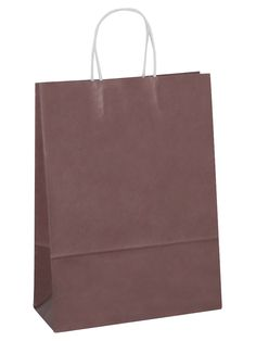 White Carrier Bag Twisted Handle - Solid Chocolate