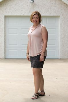 Savvy Southern Chic: Camo and blush, fall transition outfit