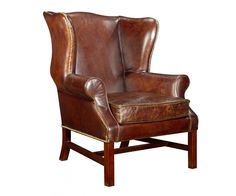 Leather wingchair by Teva Living.