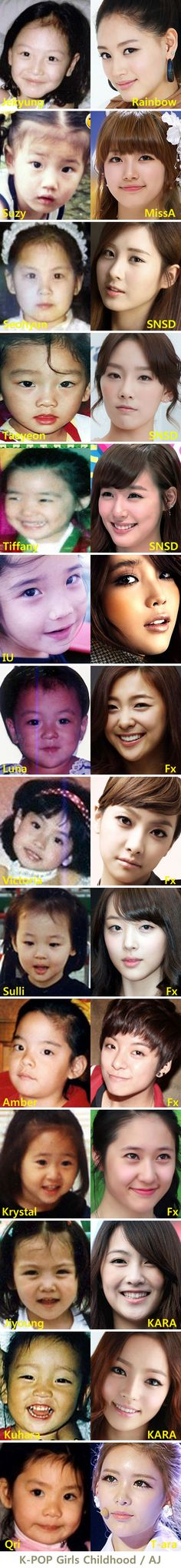 K-POP Girls Childhood still hope for beauty for me!! :U