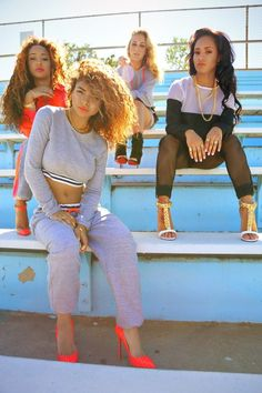 Sweatpants and Heels. Swag Girls. Hip Hop Fashion. Hip Hop Outfits. Urban Fashion. Urban Outfits. Dope. Trill