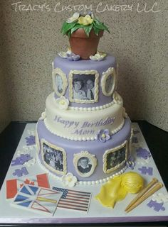 90th Birthday cake wedding cakes Pinterest 90th birthday
