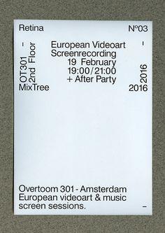 Poster design for Retina event in Amsterdam Layout Design, Web Design, Graph Design, Book Design, Cover Design, Type Posters, Graphic Design Posters, Graphic Design Typography, Graphic Design Inspiration