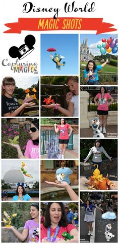 A Guide to Walt Disney World Magic Shots What Magic Shots are available in Disney World and where to find them. Don't miss out on any fun photos with your favorite characters magically added in. Disney World Fotos, Disney World 2017, Disney World Pictures, Disney World Vacation Planning, Disney World Parks, Walt Disney World Vacations, Disney Planning, Disney Destinations, Family Vacations