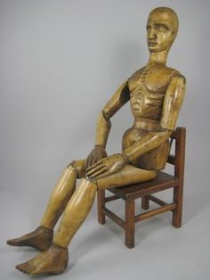 antique wooden dolls and mannequins - Google Search