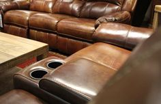Not only does our top-grain leather furniture give any space a sophisticated and high-end aesthetic, but is also of the utmost quality, offering you and your home years worth of use! Come check out our selection of these fine pieces at Gallery Furniture TODAY! | Houston TX | Gallery Furniture |
