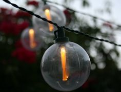 Our Unique Firefly Warm White Solar Strings Add Atmosphere To Any Garden Or Outdoor Living Space Setting The Diameter Clear Plastic Globes Contain A