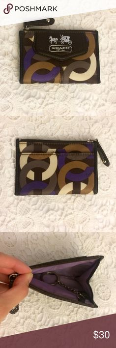 Coach zip wallet Genuine leather Coach zip cardholder wallet. In great condition! Coach Accessories Key & Card Holders