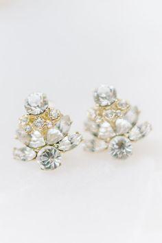Gold diamond wedding accessories: http://www.stylemepretty.com/2016/12/08/charleston-sc-elopement/ Photography: Aaron and Jillian - http://www.aaronandjillian.com/