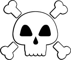 Skull and Cross Bones (and a pink one) svg