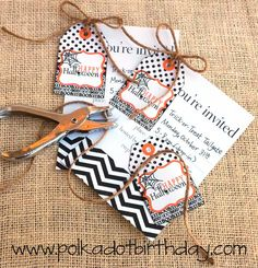 Polka Dot Birthday Supplies, Decor, Clothing: Two Free Printables = One Last-Minute Halloween Party Invitation