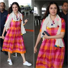 7 Vacation Friendly Chic Indian Ethnic Outfits is part of Ethnic outfits - Look cool and comfy this vacation Simple Kurti Designs, Kurta Designs Women, Blouse Designs, Stylish Dresses, Casual Dresses, Dress Outfits, Long Dresses, Ethnic Outfits, Indian Outfits