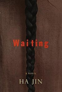 #UWBookMadness Waiting by Ha Jin   Category: Stars 'n Stripes   Ha Jin portrays the life of Lin Kong, a dedicated doctor torn by his love for two women: one who belongs to the New China of the Cultural Revolution, the other to the ancient traditions of his family's village. It contrasts city and country life and shows the restrictions on individual freedoms that are a routine part of life under communism.