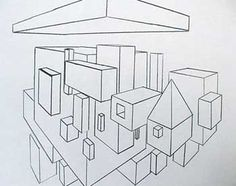 two point perspective middle school art lesson