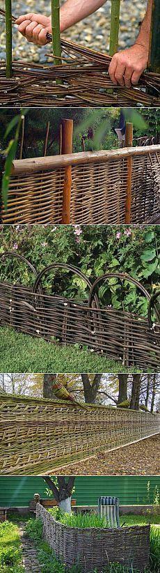 У дачи. Как сделать плетеный забор своими руками План деревянного дома