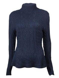 Lauren Ralph Lauren Women's Mock Cable Peplum Sweater