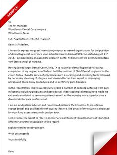 dental hygiene cover letter sample - Dental Hygiene Cover Letter Samples