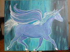 Pegasus blue night von FeeNadine auf Etsy