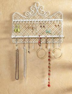 Wall Mounted Jewelry Hanger - for $9.99 this is a great solution!