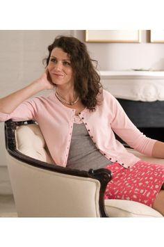 48ead1b0ad20 Jemně růžový svetřík s kulatým výstřihem a výstřihem - - MiaBella