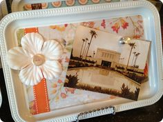 Add a few decorations to a simple Dollar Tree serving tray and you have a great gift or an awesome new addition to your home's decor.