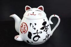 ARITA Japanese Maneki Neko TEAPOT Lucky Cat New