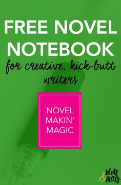Want a free writer's notebook? Learn how writing your novel on paper can help kickstart your creativity, create believable characters, and give you the writing inspiration you need! #writingtips #writers | Blots & Plots
