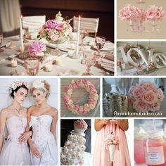 Blush pink and white wedding inspiration