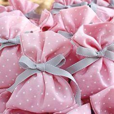#baptism #polkadots #pinkandgrey #favors #favorbags